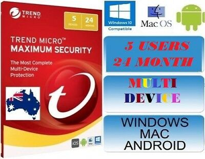 Trend Micro Maximum Security 12 (2018) | 2 Years Licence | 5 Devices
