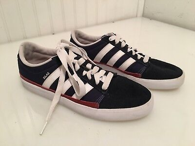big sale c93b3 a6a89 Adidas Silas skateboarding men s shoe - size 7.5 - dark red, blue, white