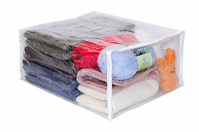 Clear Vinyl Zippered Storage Bags 15 X 18 8 Inch 5 Pack