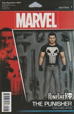 The Punisher #1 2016 Christopher Action Figure Variant Near Mint Marvel Comics