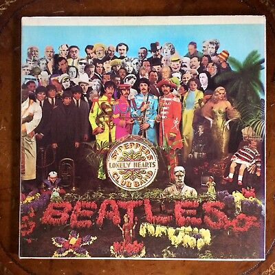 """THE BEATLES """"SGT. PEPPER'S LONELY HEARTS CLUB BAND"""" SMAS-2653 12"""" LP EX w/INSERT"""