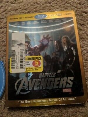 The Avengers Blu Ray 3d/Blu Ray MISSING DIGITAL COPY AND DVD