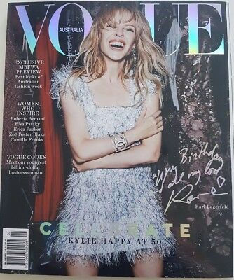 Vogue Magazine Australia Kylie Minogue May 2018 Golden Promo