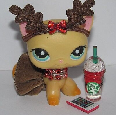 Littlest Pet Shop Clothes Lps Accessories Custom Reindeer Cat Not