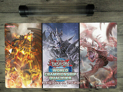 YuGiOh Card Of God 2018 WCQ Custom Trading Card Game Playmat Mat Free Best Tube