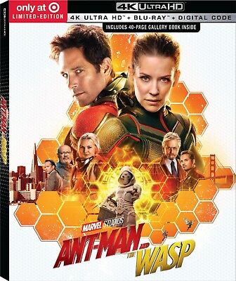 Ant-Man and the Wasp (4K UHD, Blu-ray & Digital, 2018) Target Exclusive NEW