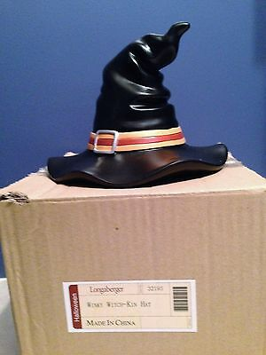 "Longaberger Winky Witch Kin Hat Halloween Resin 6"" Tall October Decoration NIB"