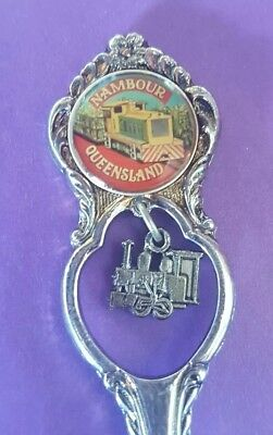 Nambour Queensland SUGAR CANE TRAIN  Souvenir Collector Teaspoon. 3D TRAIN