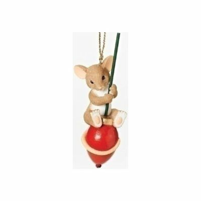 Charming Tails MOUSE WITH SLEIGH BELL Christmas Mice Xmas Hanging Ornament