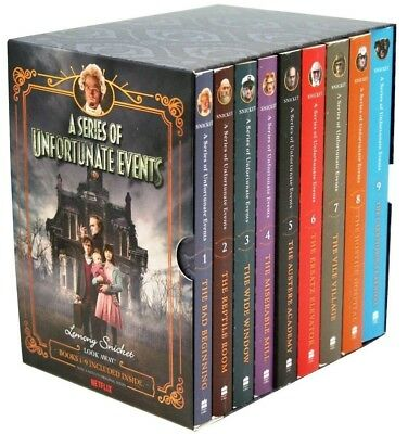 NEW Lemony Snicket A Series of Unfortunate Events Netflix Tie In Books Boxed Set