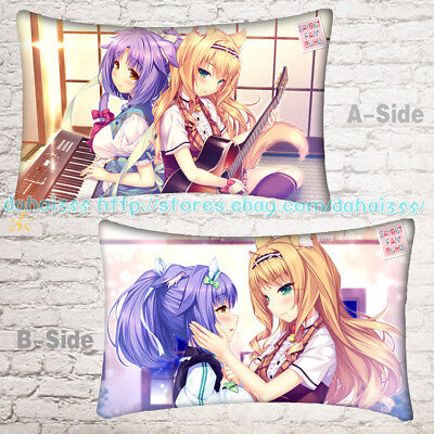New Anime NEKOPARA Otaku Comfort Bedding Dakimakura Pillow Case Gift 35*55cm #M1