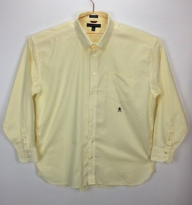 Vintage Tommy Hilfiger 80's 2 Ply Fabric XXL Man's Button Front Dress Shirt