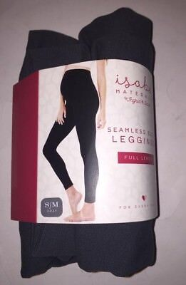 Woman's Isabel Maternity Seamless Belly Legging Full Length Solid Gray Size S/M