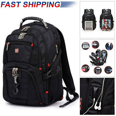 "15.6"" Laptop Backpack Notebook Rucksack Swiss Gear Outdoor Travel School Bag"