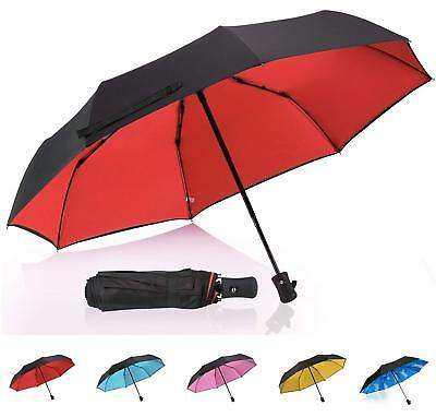 QHUMO Travel Umbrella Windproof with Double Layer, Collapsible Compact Umbrellas