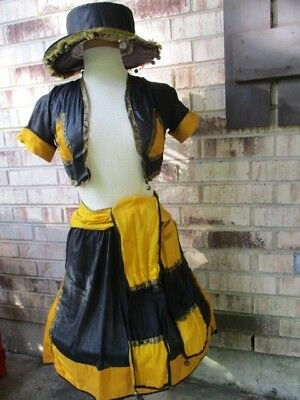 50s vintage Halloween 4pc GYPSY COSTUME stamped CHARLO –  12 Teen/Junior 30 Bust