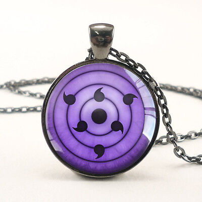 Rinnegan Sasuke Uchiha Eya pendant Naruto anime Sharingan Eye Necklace