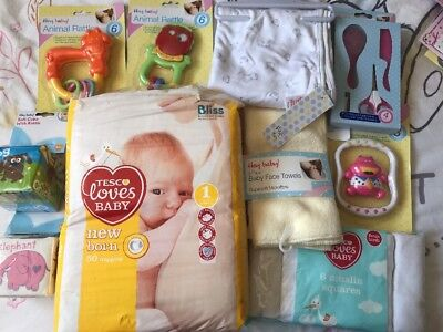 Baby Items Bundle Including 50 Newborn Nappies Size1