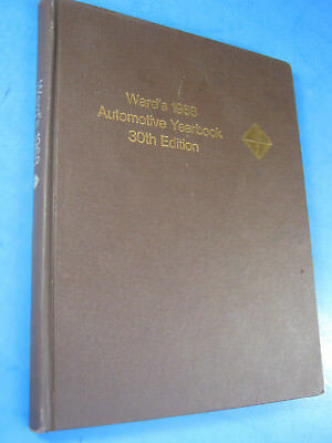 1968 Ward's Automotive Yearbook 30 Ed. Clean.