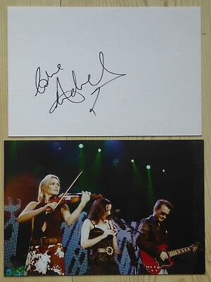THE CORRS Borrowed Heaven OFFICIAL GIG PHOTO + ANDREA CORR SIGNED CARD