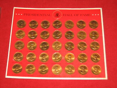 U.s. Presidents 1968 Shell Gas Oil Game Bronze Prize Set Franklin Mint Coins
