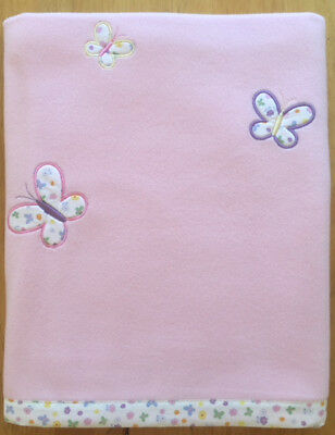 Wholesale Joblot 100 x Baby Fleece Blankets - Butterfly