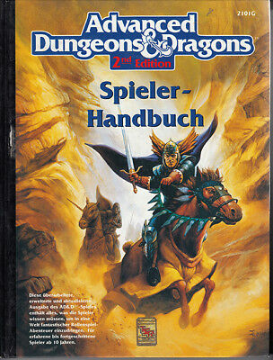 Advanced Dungeons & Dragons - AD&D - Spielerhandbuch - 2nd Edition - 1993