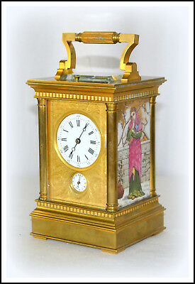 Fabulous Antique French Carriage Clock Grand Sonnerie Quarter Repeater Alarm