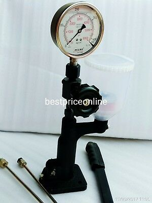New Diesel Injector Nozzle Pop Tester Dual Scale 6000 Bar/Psi Gauge @Fg