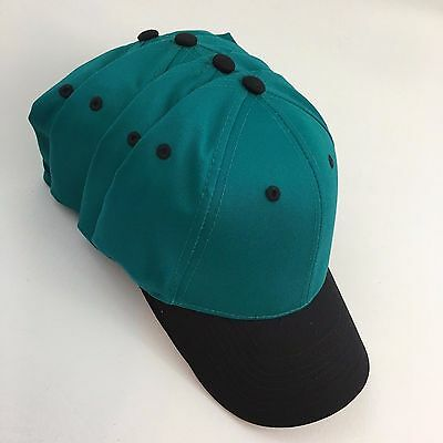 Caps Hats Blanks 4 Cotton Twill Low Profile Teal Green & Black Otto 19-062