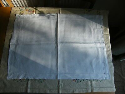 Antique/Vintage Extra Large Pillowcase Plain Cotton with Hole Embroidery