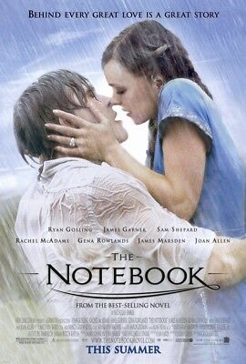 THE NOTEBOOK MOVIE POSTER 2 Sided ORIGINAL ROLLED VF 27x40 RYAN GOSLING
