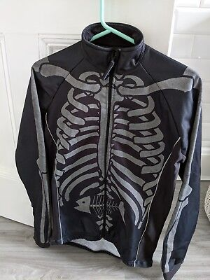 125cb80a6 Rare Foska Skeleton and Fish Cycle Jersey Jacket. Size XS (men) or M