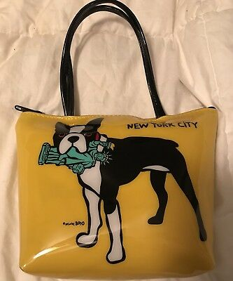 MARC TETRO Purse New York Version Statue Limited Edition Boston Terrier