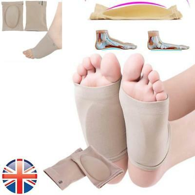 Silicone Foot Fallen Arch Support Gel Heel Cushion Insole Pain Relief Flat Feet
