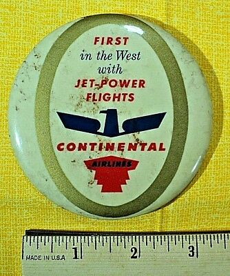 Continental Airlines, Extremely Rare pin, from a collection , FREE SHIPPING !!