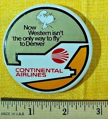 Continental Airlines, Rare pin, from a collection, FREE SHIPPING !
