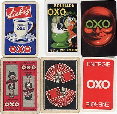 "6 x OLD & NEW ""OXO Hot Drink"" SINGLE Playing Cards"