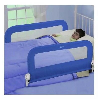 Summer Infant Child Toddler  Grow With Me Double Bed Rails - Blue - LEEDS
