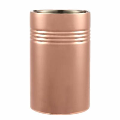 Wine Chiller Ice Bucket Copper Plated Stainless Steel Cooler Double Wall Buffet