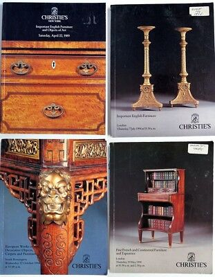 Lot of 4 Christie's Auction Catalogs from 80's/90's Furniture Tapestries
