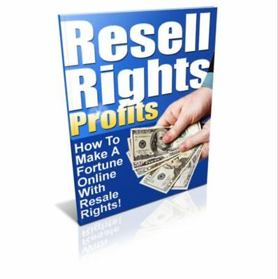 7 RESELL RIGHTS PROFITS (ebooks/pdfs) How To Make A Fortune Online With Rights