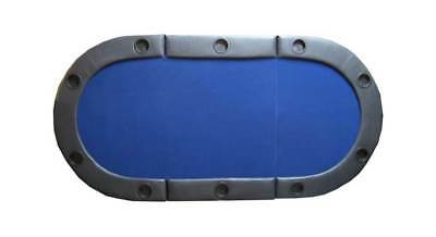 Padded Texas Hold'em Folding Poker Table Top in Blue [ID 59347]