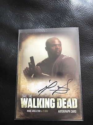 Irone Singleton Walking Dead Season Two Autographed Card T-Dogg