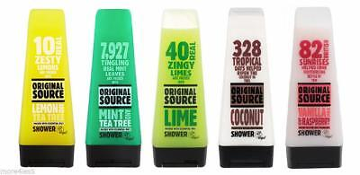 3 x Original Source Shower Gel 250ml Body Wash Packed With Natural Fragrance New