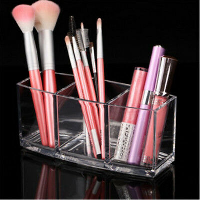 Acrylic Cosmetic Makeup Organizer Display Brush Holder Cup Lipstick Stand  OD