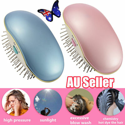 Portable Electric Ionic Hairbrush Takeout Mini Hair Brush Comb Massage Small OD