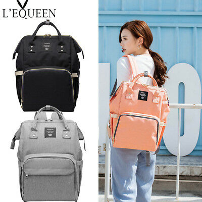 LEQUEEN Fashion Mummy Maternity Diaper Large Capacity Baby Bag Travel Backpack