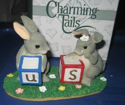"""Charming Tails by Fitz & Floyd - No """"Us"""" Without """"U"""" 89/703 - Bunnies"""