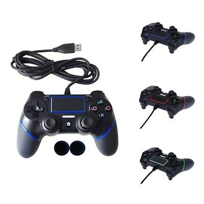 For PS 4 Controller Multiple Vibration Cable Wired Game Controller Handle 1.8 M